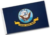NAVY FLAG - 4x6' OUTDOOR NYLON W/ HEADING AND GROMMETS