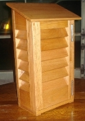 THERMOMETER BOX - SOLID OAK WITH STAINLESS STEEL HARDWARE