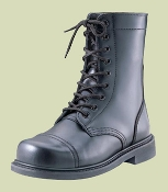 BLACK GI STYLE STEEL TOE COMBAT BOOTS - ONE DOZEN PAIR