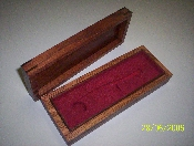 BOATSWAIN'S PIPE HARDWOOD BOX - U.S. NAVY AND COAST GUARD