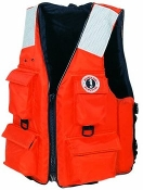 FOUR POCKET FLOTATION VEST W/ SOLAS TAPE