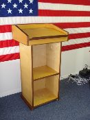 "PODIUM - THE ""MIDWAY"" - BIRCH AND WALNUT"