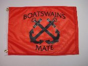 "BOATSWAIN'S MATE CROSSED ANCHOR FLAG 12"" X 18"" ***NEW COLORS***"