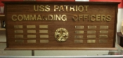 COMMANDING OFFICER'S NAME BOARD