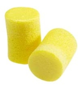 FOAM EAR PLUGS - YELLOW - BOX OF 200 PAIRS