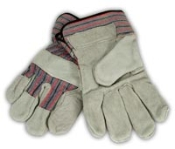 GLOVES, LEATHER PALM - ONE DOZEN